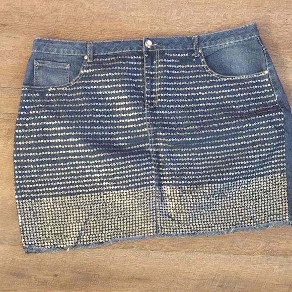 afa993a97c Ashley Stewart Dresses   Skirts - Ashley Stewart Jean skirt plus size 22